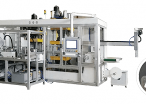 Automatic dental teeth blister lamination vacuum forming machine