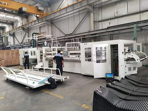 Cooling town filling thermoforming machine