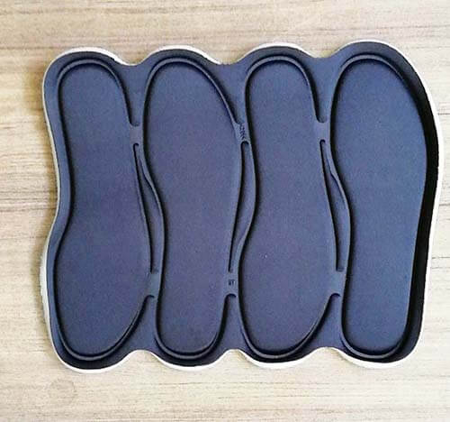 Foot insole embossing