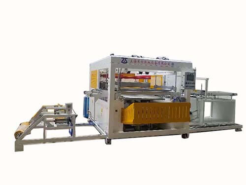 Ground heating foam composite plate vacuum forming machine