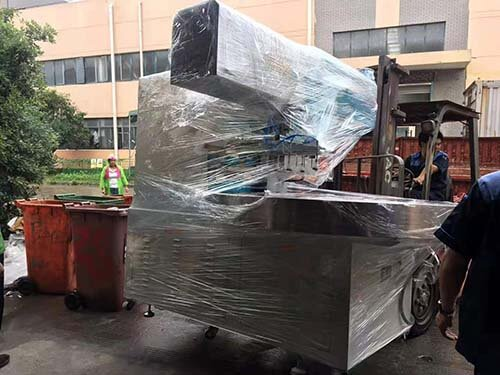 High frequency fusing machine delivery