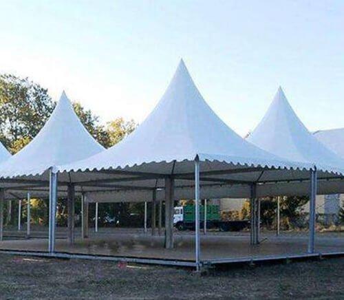 Landscape tent PVC film welding