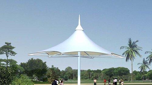 Landscape tent film welding