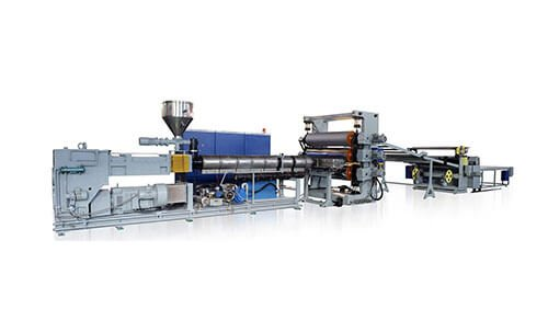 Plastic-sheet-extrusion-line