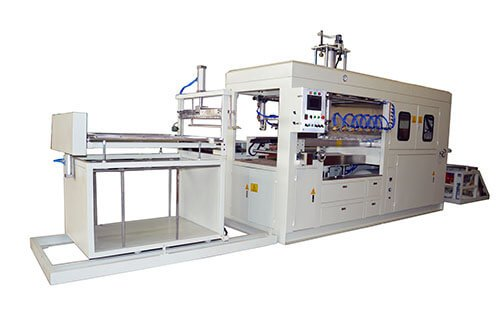 Semi automatic high speed thermoforming machine