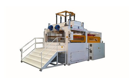 Thick-sheet-vacuum-thermoforming-machine