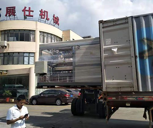 Thin sheet thermoforming machine ship to Saudi Arabia