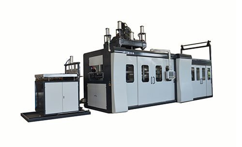 Thin-sheet-vacuum-thermoforming-machine