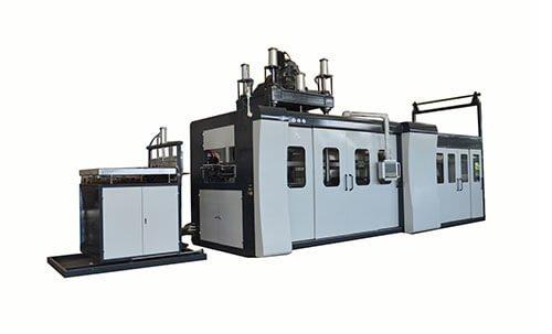 Thin-sheet-vacuum-thermoforming-machine