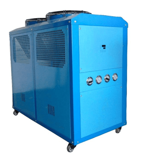 Water chiller for thermoforming machine
